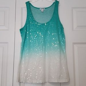 Old Navy Ombre Sequined Tank Top